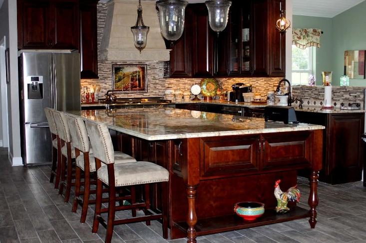 red wood kitchen